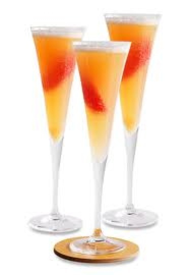 Peach Bellini. | food and drink. | Pinterest