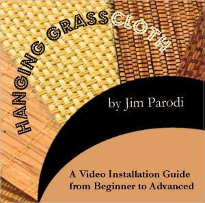 how to hang grasscloth video and info