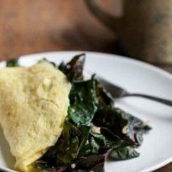 Garlicky Greens and Goat Cheese Omelette   Eggs/Breakfast   Pinterest