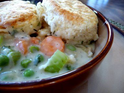 Chicken Pot Pie with Buttermilk Biscuit Crust- can use the potpie ...