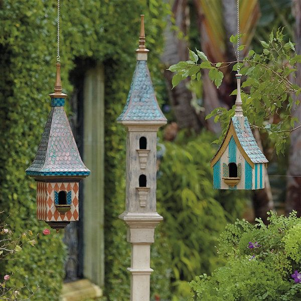 Victorian birdhouse collection for the garden pinterest for Types of birdhouses