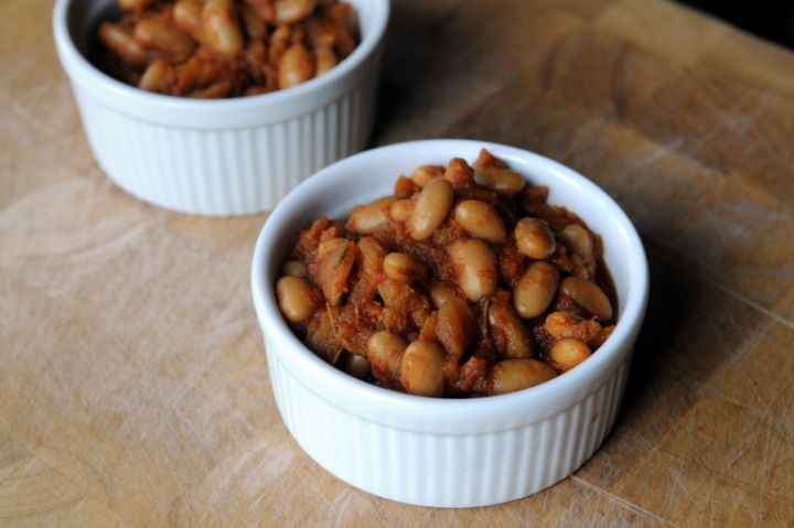 Baked Beans & Pears With Broccoli Salad Recipe — Dishmaps