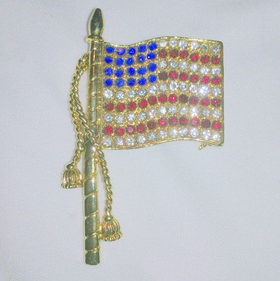 american flag pin with star