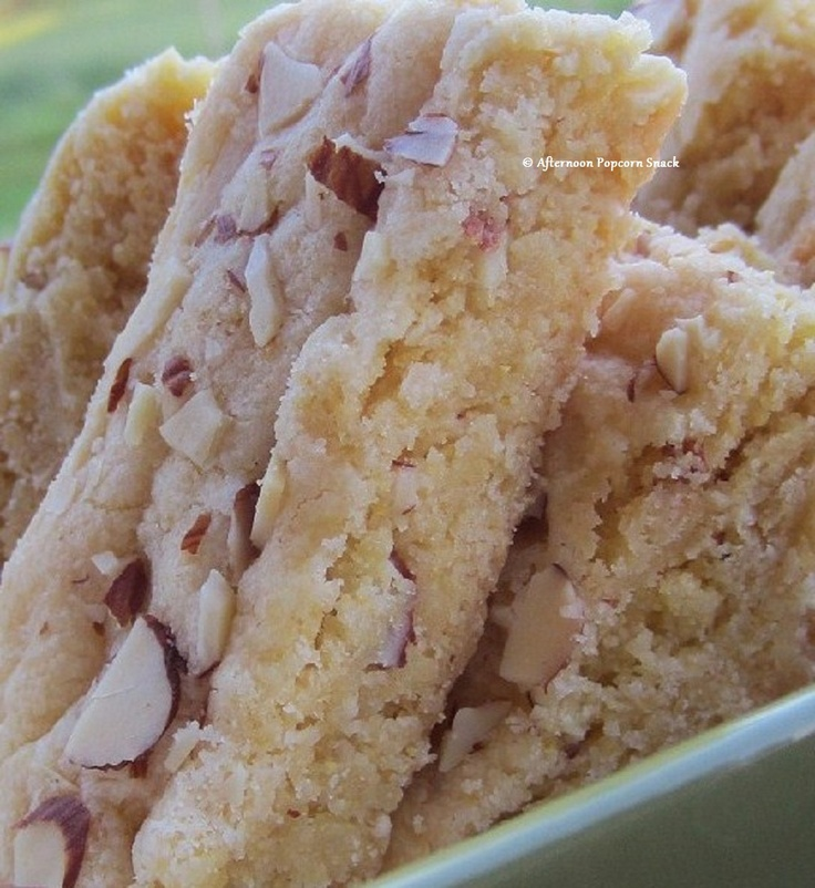 Lemon-Almond Shortbread Bars | Recipes~SweetTooth4cookies | Pinterest