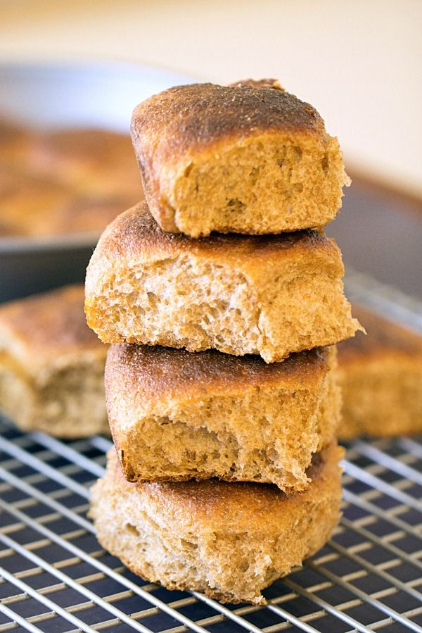 Whole Wheat Dinner Rolls - This Gal Cooks #wholewheat #sidedishes # ...