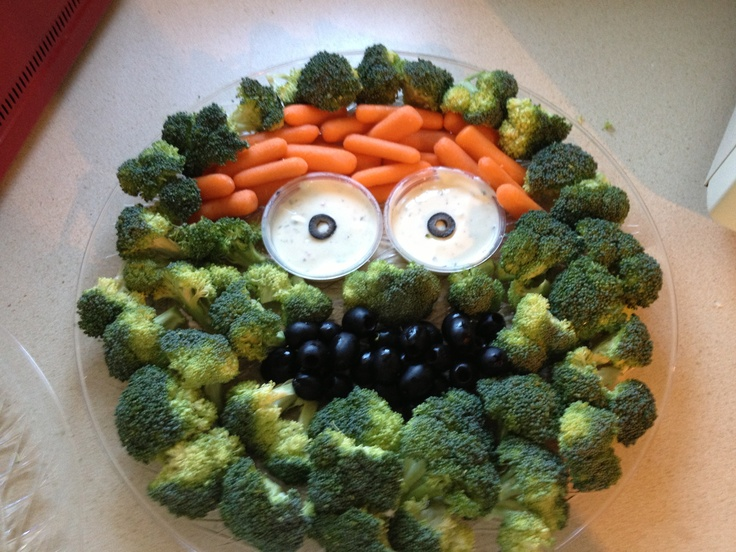 pin i saw oscar the grouch veggie tray for baby shower so cute