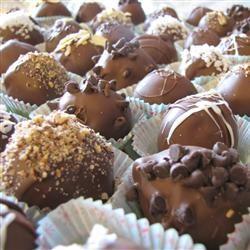 Easy Decadent Truffles Allrecipes.com | Cookies/Candy/Bars | Pinterest