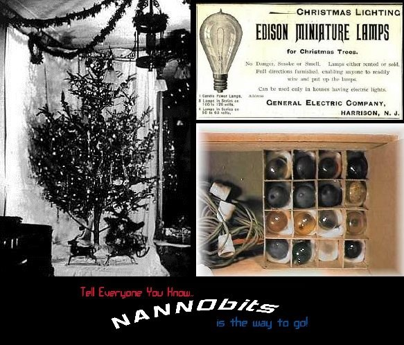 1st String Of Christmas Tree Lights Created By Thomas Edison : Pin by Sue Hirtle on A Victorian Christmas Pinterest