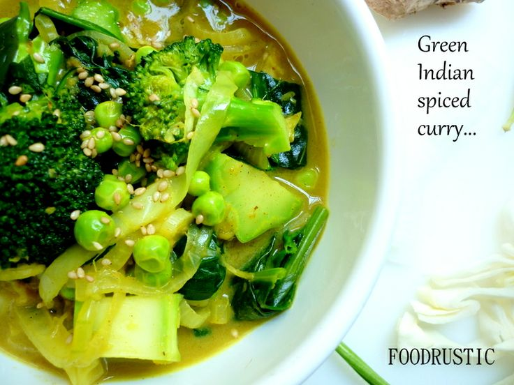Green curry soup | Own foodphoto/style creation-FOODRUSTIC | Pinterest