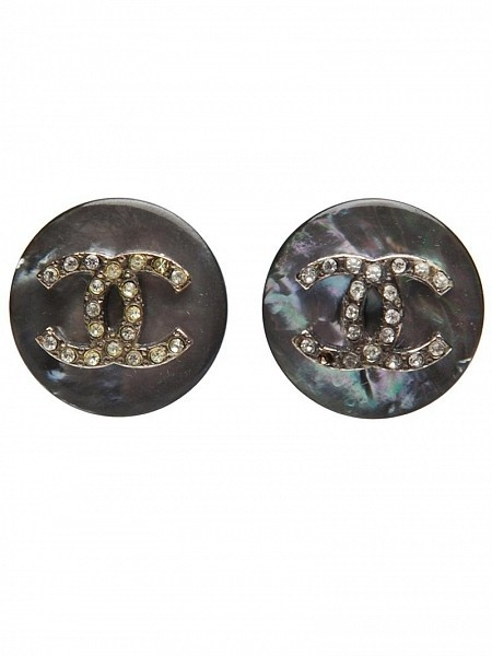 CHANEL VINTAGE Rhinestone Chanel #Earrings by #Chanel #Vintage