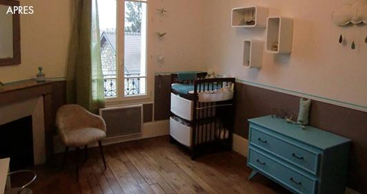 Decoration chambre de bébé vintage taupe et bleu vert, by Animelie ...