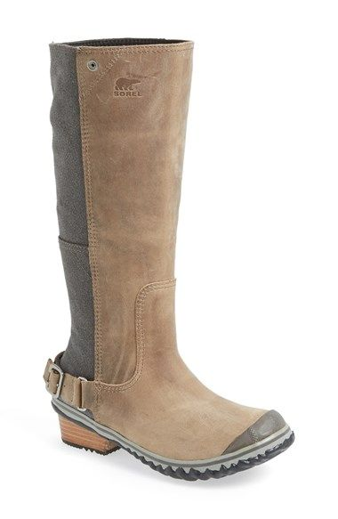 Free shipping and returns on SOREL 'Slim' Waterproof Tall Boot (Women) at Nordstrom.com. A tough yet chic tall boot cast in waterproof leather with oiled suede panels and accented with sleek buckle hardware makes an ideal companion for icy or snowy commutes.