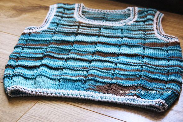 Free Crochet Vest Pattern For Child : Knitting Pattern: Vest For Children Knit and Crochet ...