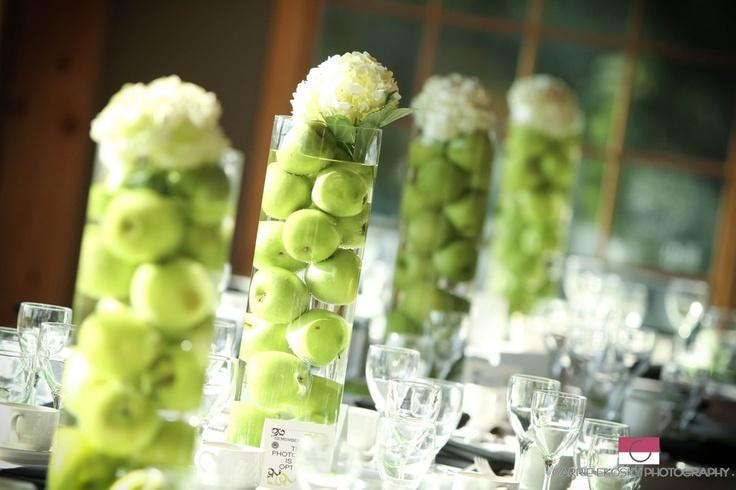 Яблоки для декора свадьбы