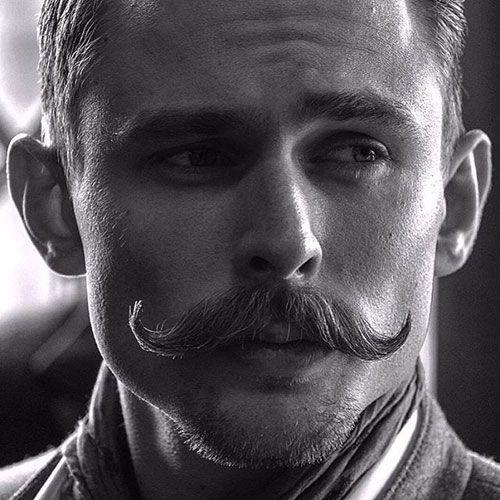 Beard with handlebar mustache