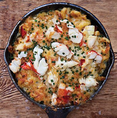 A very grown-up Lobster Mac and Cheese — with a hit of cognac, for good measure.