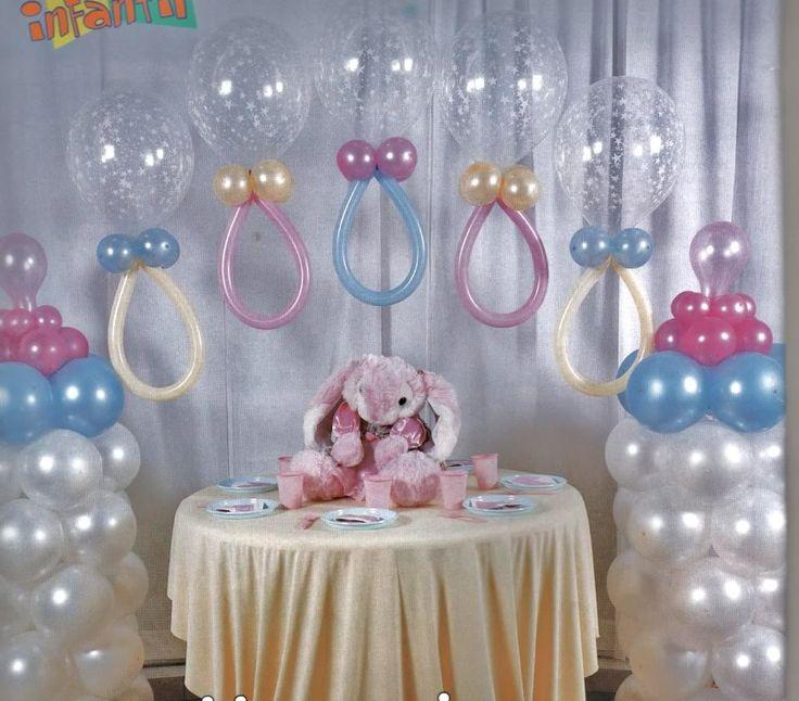 ... opinas de ésta idea de decoración con globos para un baby shower