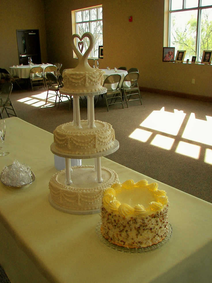 wedding cake made by kroger at holiday manor and grooms cake made by