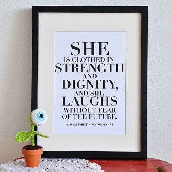 Proverbs 31:25 --