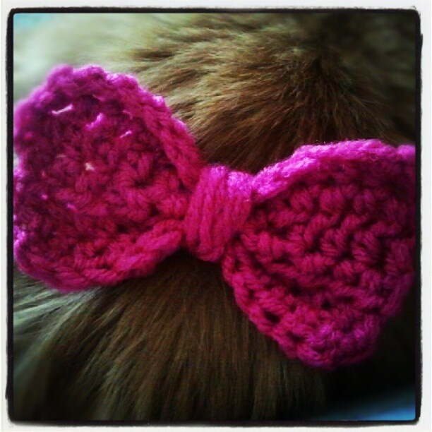 Crochet Hair Bows : My first attempt at a crochet hair bow! Amanda Callaway Originals ...