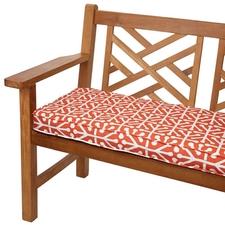 Dossett Orange 60 Inch Indoor Outdoor Corded Bench Cushion Shopping Big