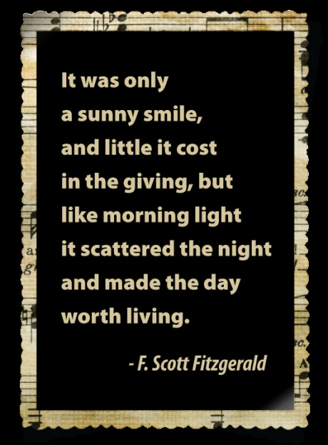 Makes me think of my sweet little Lacy who tells us each night who she gave smiles to :)