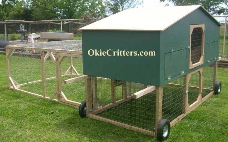Pin by michael burkhardt on chicken tractors pinterest for Portable chicken coop on wheels
