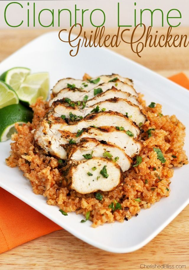 Cilantro Lime Grilled Chicken | Main Dishes | Pinterest