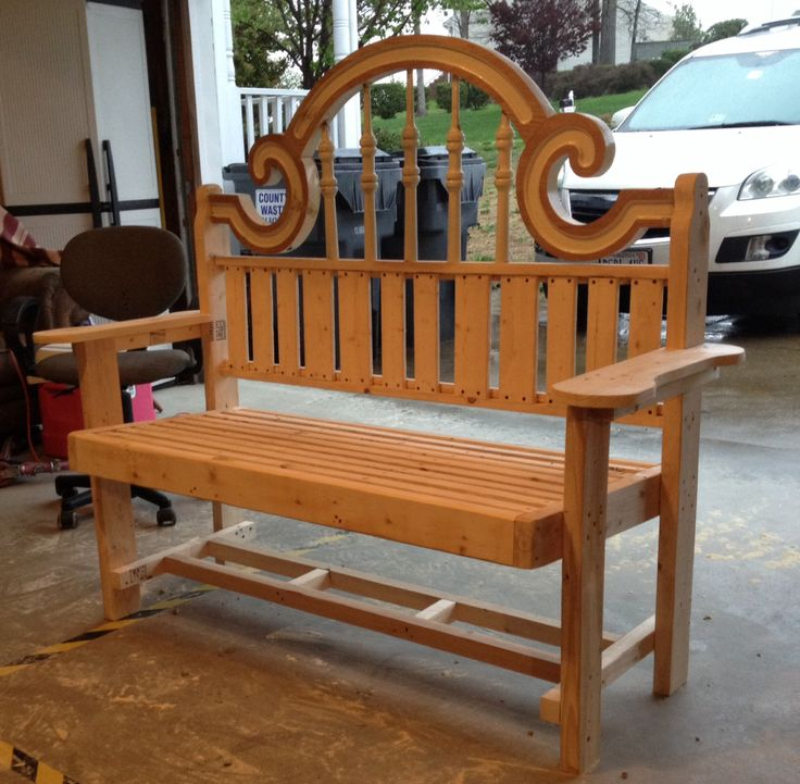 ... headboard into new bench. | Woodworking Projects | Pintere