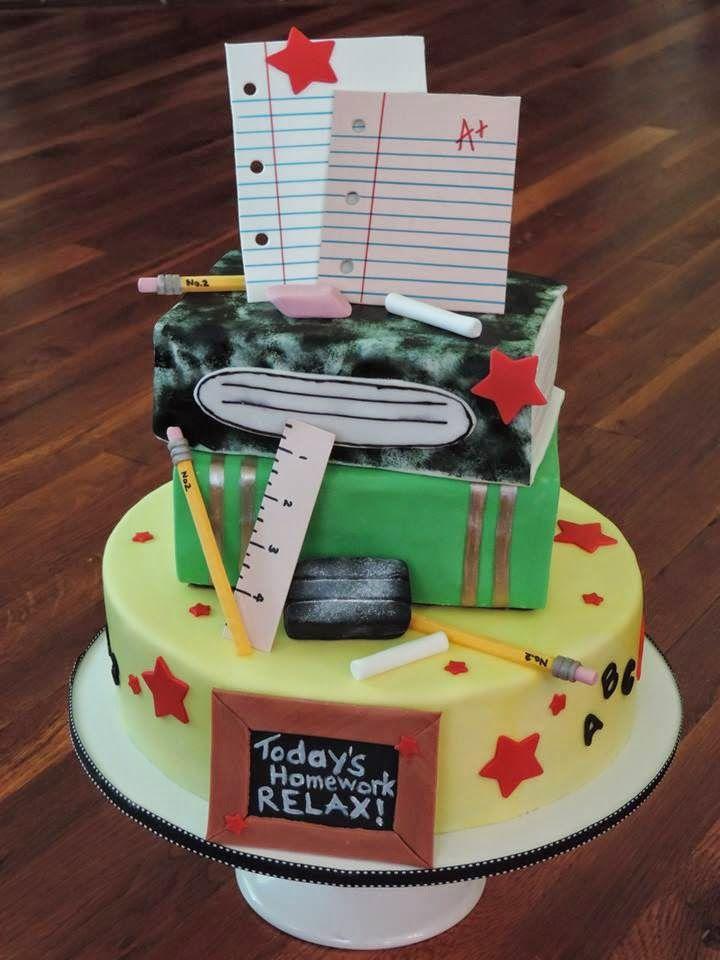Teacher Retirement Cake Cakes by Me :) Pinterest