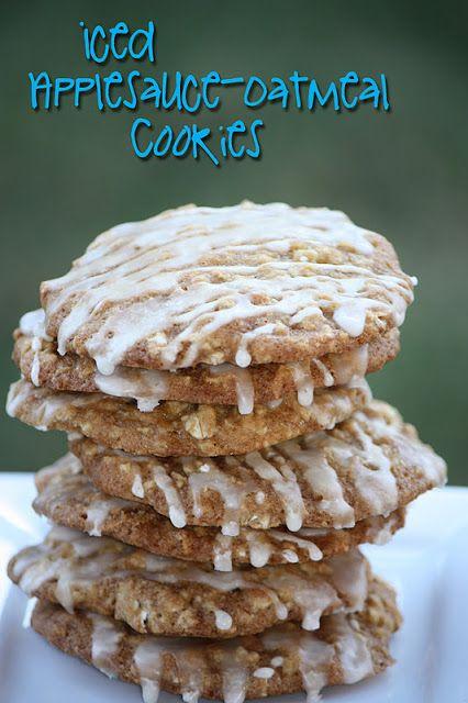 Iced Applesauce-Oatmeal Cookies | Cookies | Pinterest