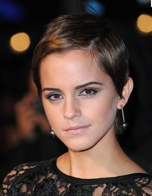 emma watson - pixie crop...thinking about the plung again