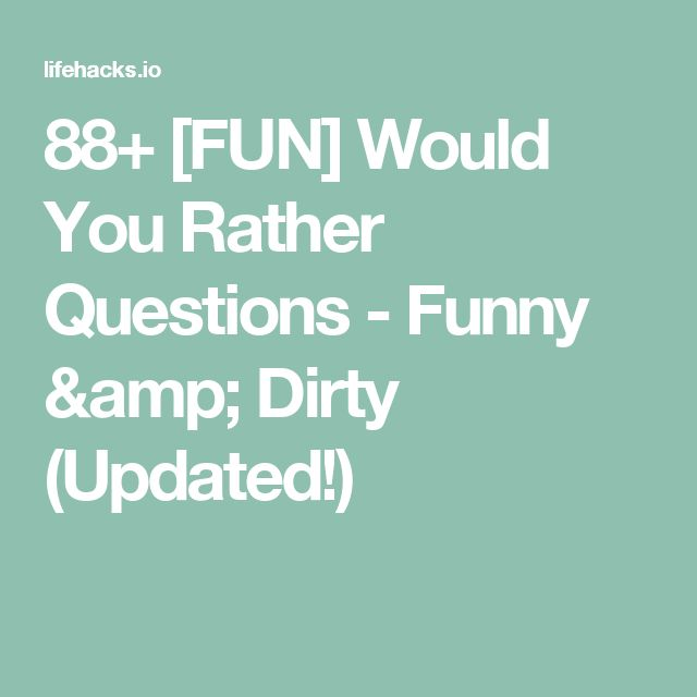 Naughty dating questions