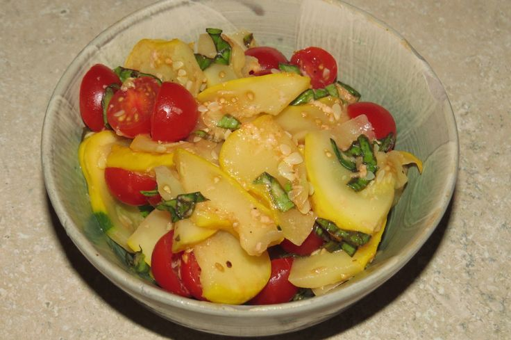 Summer Squash Salad | FIWTE (Food I Want To Eat) | Pinterest