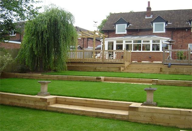 Diy Tiered Backyard : tiered back yard  Bing Images