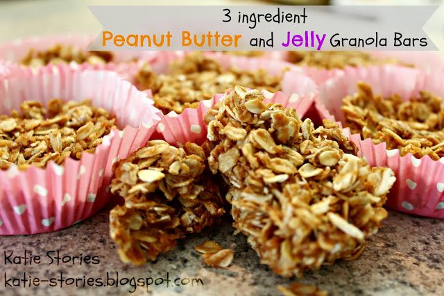 3 Ingredient Peanut Butter and Jelly Granola Bars {3 points+}