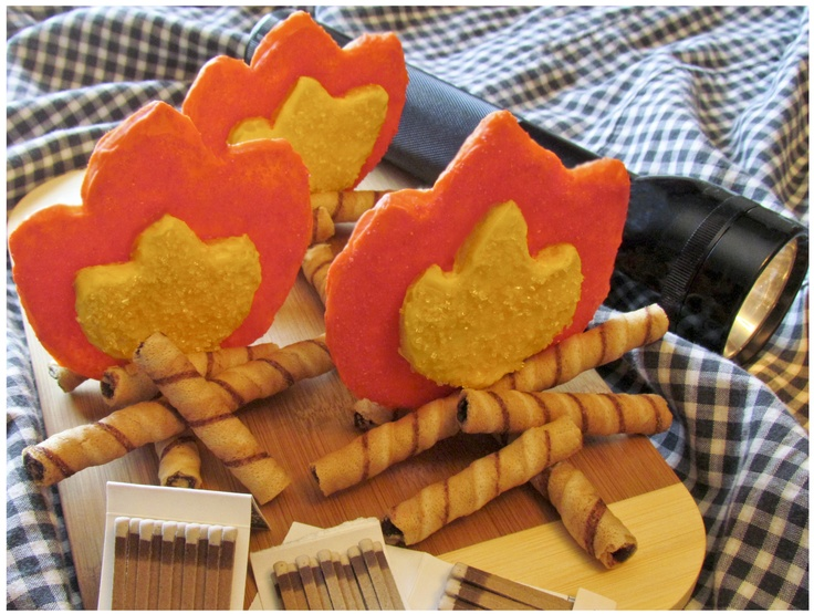 Campfire Cookies | Great Outdoors | Pinterest