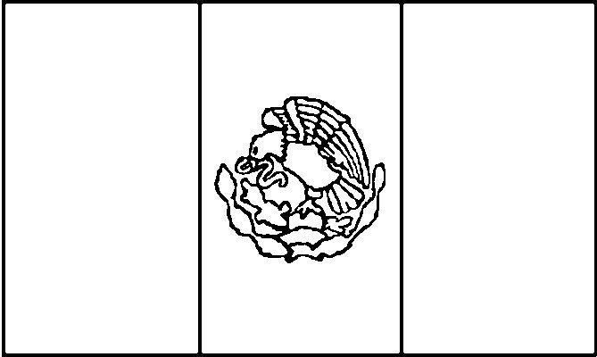 Mexico flag for painting cinco de mayo 1st grade holiday for Mexican flag coloring page