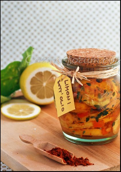 Lemon confit in oil with herbs and spices- Lamoun makbouss