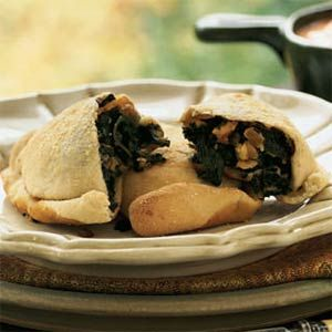 Spinach and Kale Turnovers - A delicious-sounding appetizer with very ...