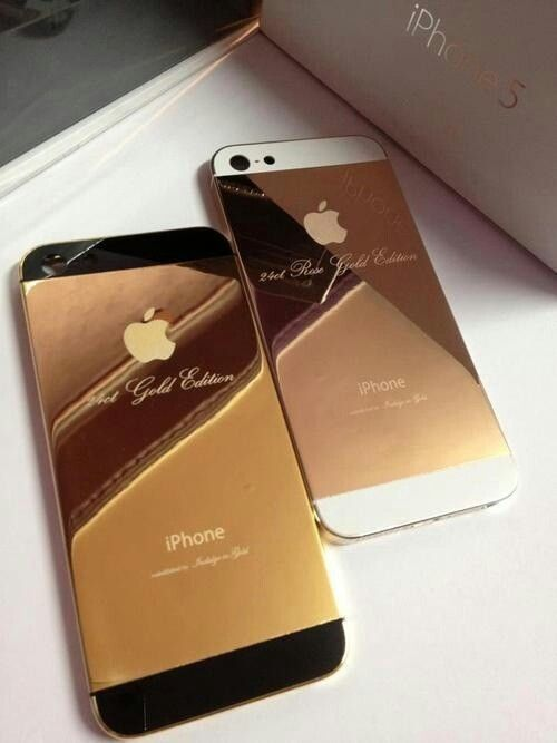 24k gold and rose gold iphone 5 fashion pinterest. Black Bedroom Furniture Sets. Home Design Ideas
