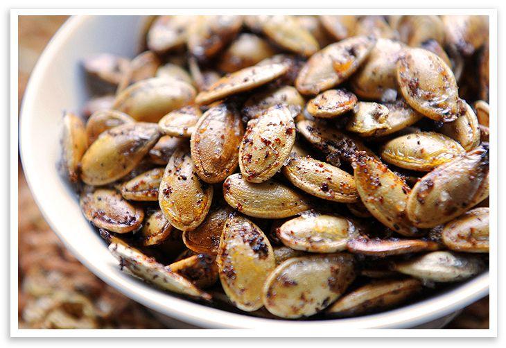 "on Roasted Pumpkin Seeds"" @Sara Leeder, have you ever tried roasting ..."
