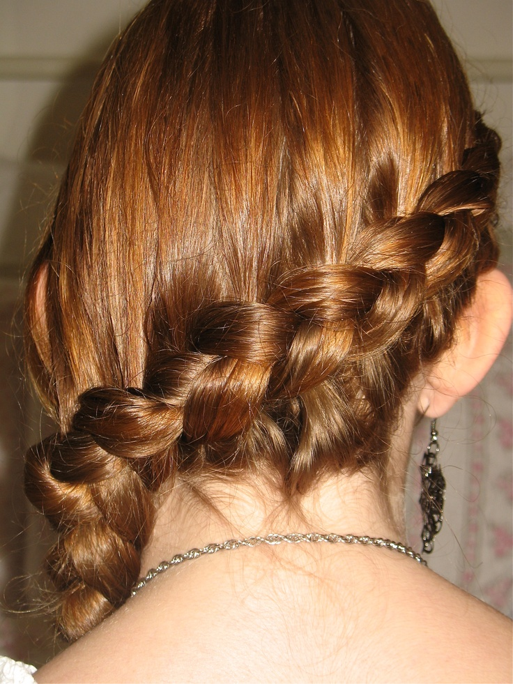 katy perry hairstyle : Another view of the Katniss Everdeen braid. Hairstyle by Leah Andrews.
