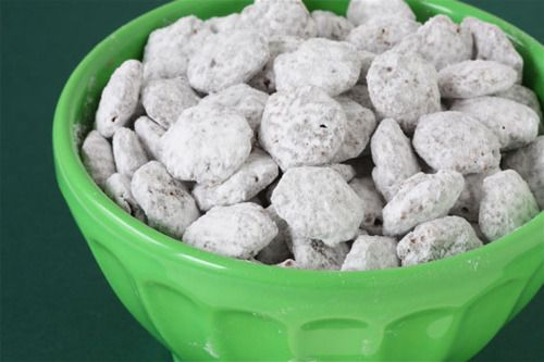 Kitty Chow...aka SKINNY puppy chow. 100 cal for 1cup instead of 365! Uses SF FatFree jello pudding.
