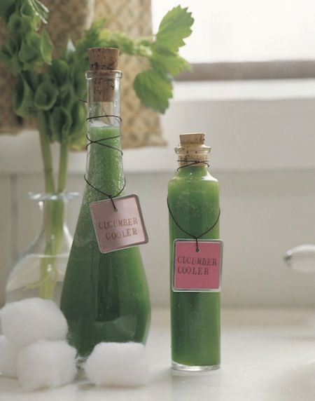 Cucumber Toner or face mask. Natural Spa Product.