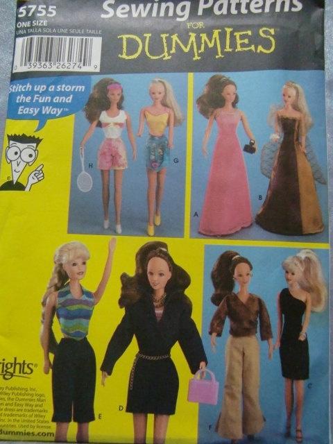 Simplicity Pattern 5755 Fashion Doll For 111/2 by Elliesstudio, $12.00