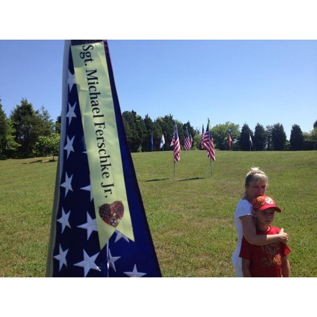 memorial day flag flying