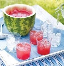 watermelon punch bowl   Ans's 1st bday: Watermelon Party   Pinterest