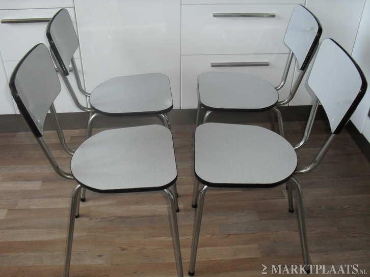 formica witte stoelen, retro, sixties my aunt had these - mijn tante ...