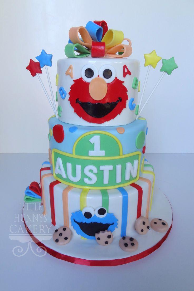 sesame street 1st birthday cakes